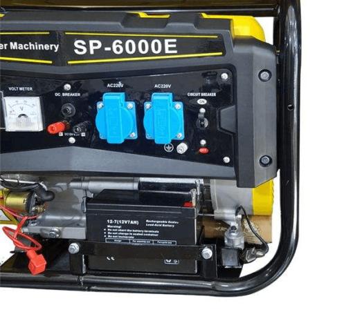 موتوربرق سان پاور 3 کیلووات مدل SP6000-E | بنزینی استارتی بهمراه چرخ و دسته