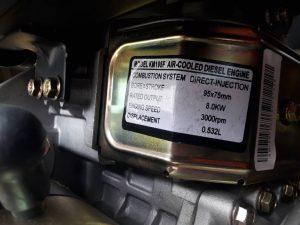 موتور برق گازوئیلی سه فاز 6.5 کیلووات | کاما مدل kde8800e3