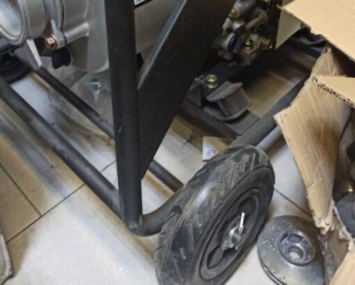 موتور پمپ دیزلی 4 اینچ برند ای تی کیو ETQ بهمراه چرخ و دسته