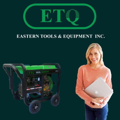 موتور برق دیزلی ETQ با توان 5.5 کیلووات به همراه گرمکن انژکتور