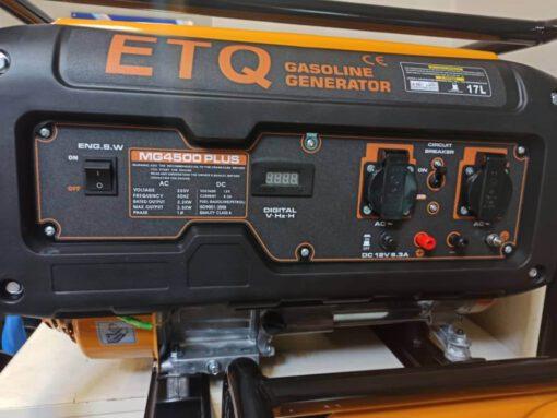 موتور برق بنزینی 3.5 کیلووات ای تی کیو مدل MG4500 plus با تحمل بار استارتی تا دو برابر