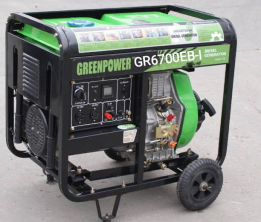 موتور برق گازوئیلی 5 کیلووات گرین پاور مدل GR6700EB-I
