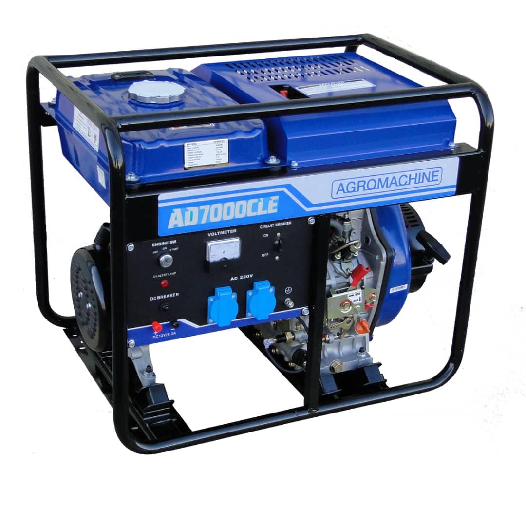 موتور برق دیزلی آگرو مدل AD7000CLE با توان 5.5 کیلووات | نماینده رسمی تهران