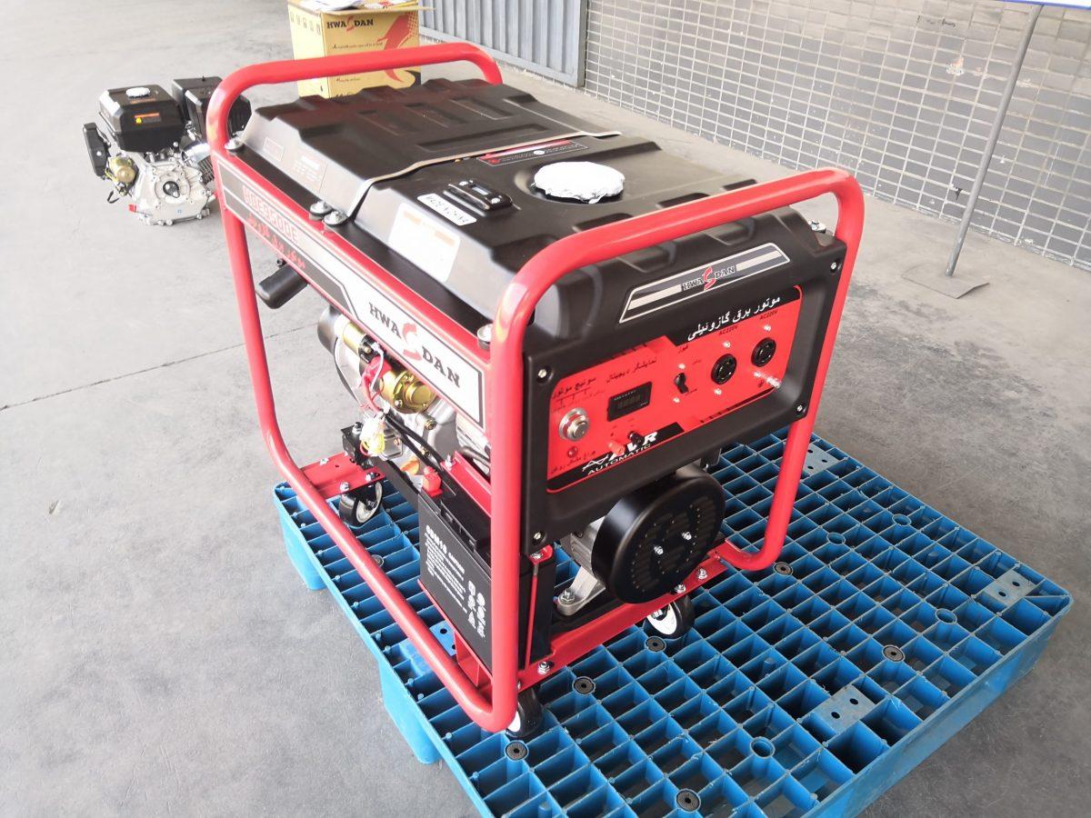 موتور برق گازوئیلی هواسدان مدل HDE9500
