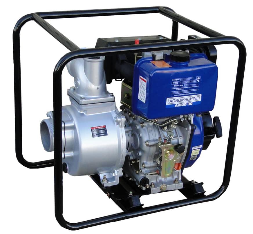 موتور پمپ آب دیزلی 4 اینچ هندلی آگرو مدل AD100-30