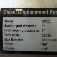 موتور پمپ دیزلی ای تی کیو ETQ مدل DP3CL | 3 اینچ