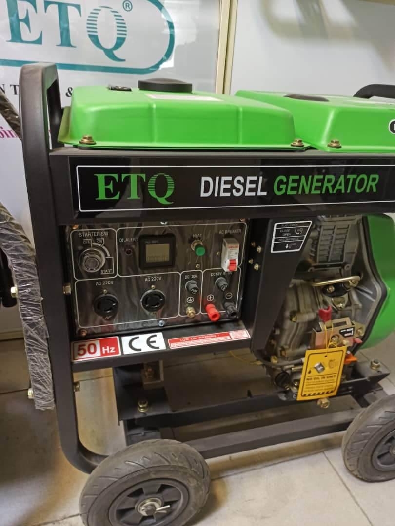موتور برق گازوئیلی etq مدل DG8LE با توان 7 کیلووات بهمراه گرمکن انژکتور