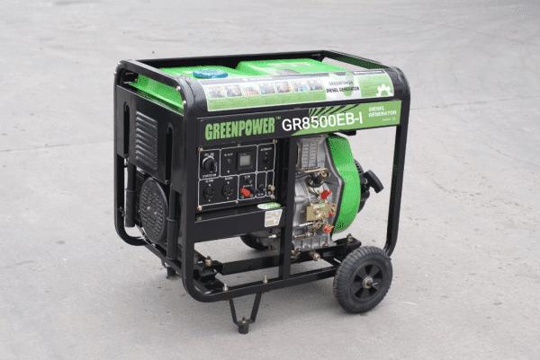 موتور برق دیزلی گرین پاور 6.5 کیلووات مدل GR8500EB-I