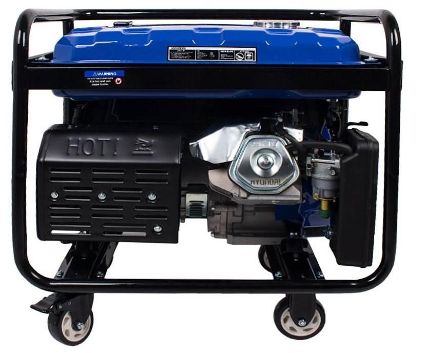 موتور برق هیوندایی hg 8525 | بنزینی 8.5 کیلووات بهمراه چرخ و باطری