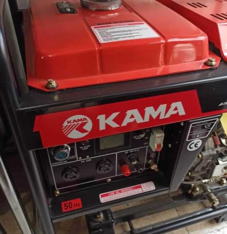 موتور برق گازوئیلی کاما 6500 | 5 کیلووات استارتی بهمراه چرخ و دسته