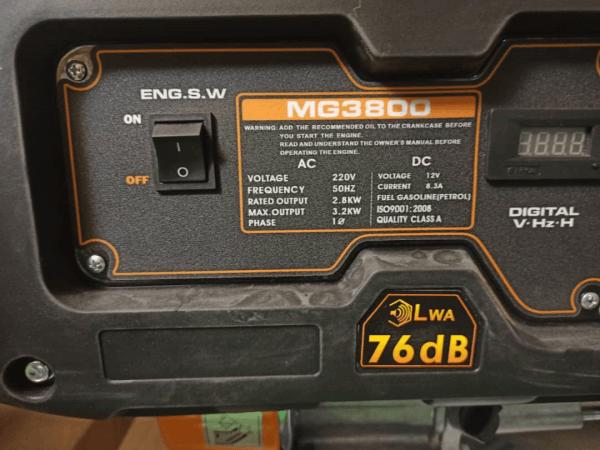 موتور برق 3.2 کیلووات ETQ بنزینی مدل MG3800 هندلی