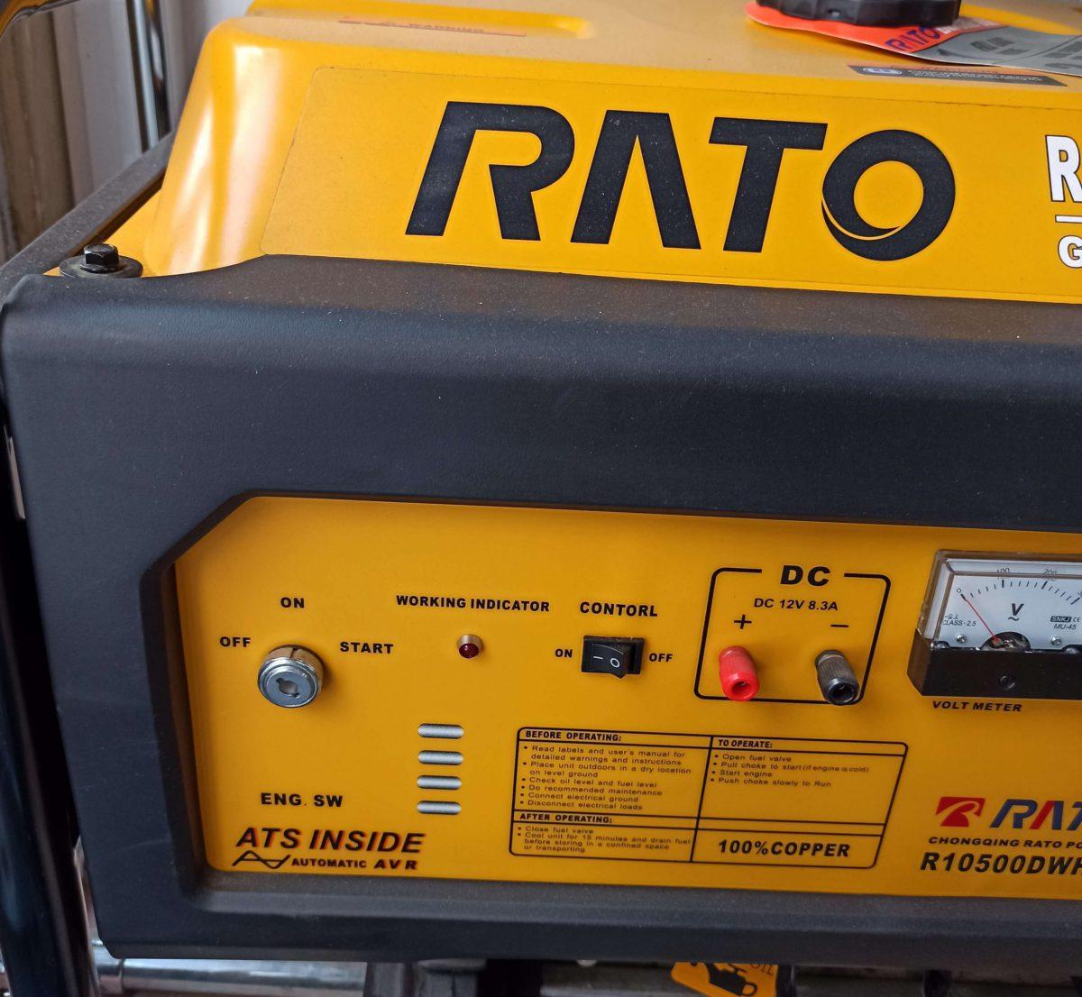 موتور برق راتو 5500 با چرخ و دسته | بنزینی | بهمراه باتری | RATO R5500DWHB+