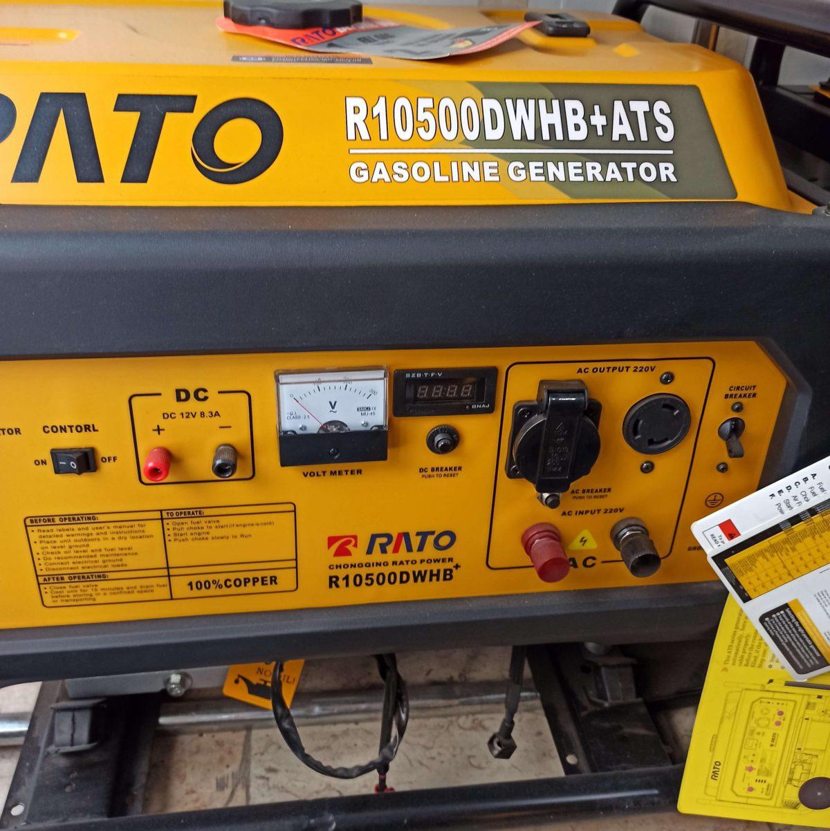 موتور برق راتو 10500 اتوماتیک   7.5 کیلووات   بنزینی   RATO R10500DWHB+