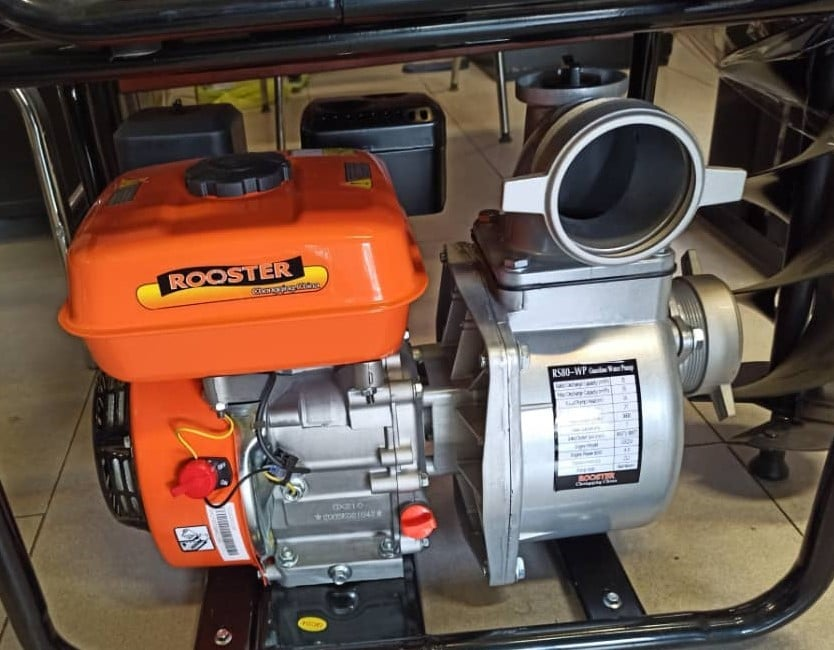 موتور پمپ بنزینی 2 اینچ روستر | مدل RS50 با موتور 7.5 اسب بخار