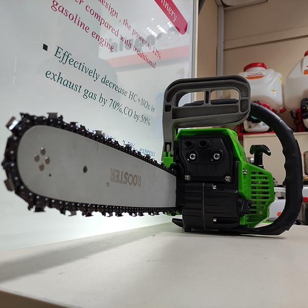 اره زنجیری روستر مدل RS670 بنزینی با طول ریل 50 سانتی متر و تیغه و زنجیر اورگون