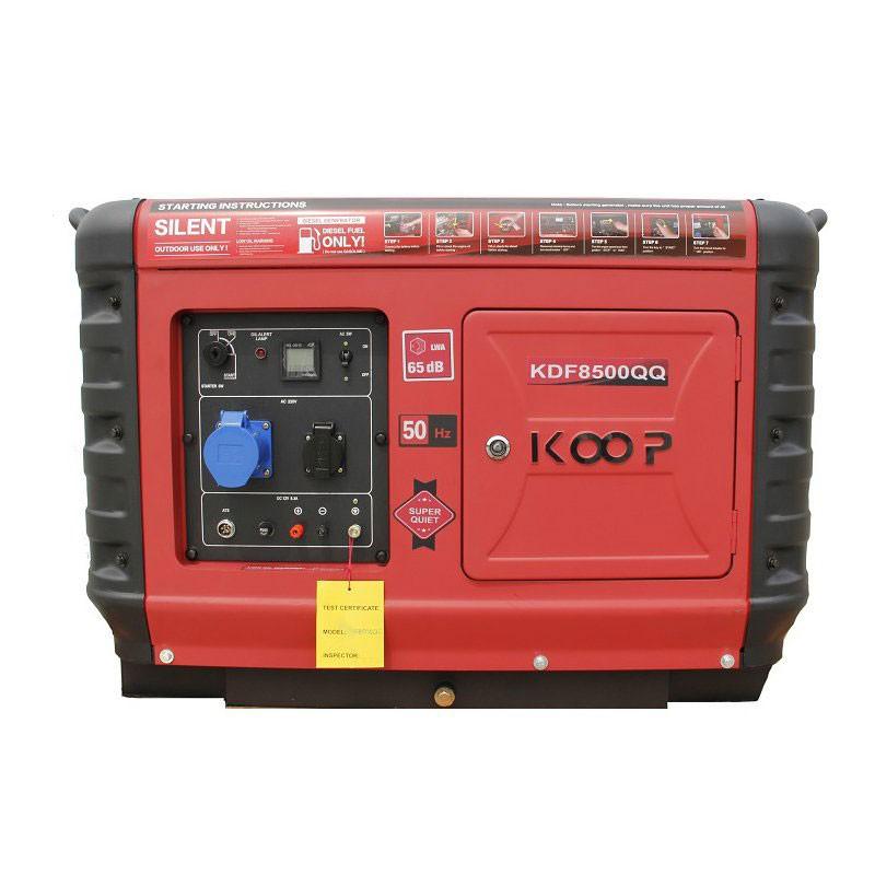 موتوربرق گازوئیلی کوپ KDF8500-QQ